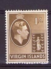 Isole Vergini britanniche 1/- Singolo, georgevi SG117 Marrone-Oliva GESSO a cerniera.