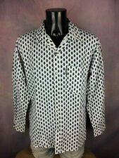 ATELIER PROVENCAL Chemise Shirt Bouton Nacre Pearl Snap Vintage Made in France