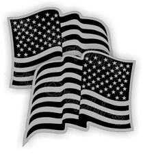 2 Black Ops American Flag Hard Hat Stickers Flags Decals Helmet Motorcycle | USA