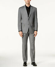 $501 ANDREW MARC mens GRAY FIT 2 PIECE SUIT JACKET BLAZER COAT PANTS 40 S