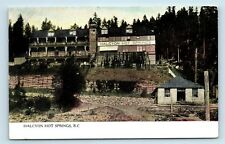 RARE EARLY 1900s POSTCARD - HALCYON HOT SPRINGS - ARROW LAKE, BC, CANADA - C1