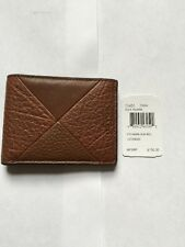 COACH MEN Leather Patchwork Slim BillFold Wallet Dark Saddle F75451 $150