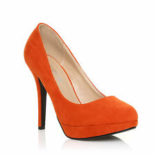 WOMENS LADIES HIGH STILETTO HEEL PLATFORM COURT SHOES SIZE 3-8