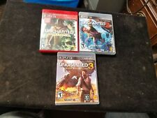 Playstation 3 PS3 UNCHARTED 1 2 3 Drake's Fortune Among Thieves Deception Games