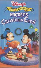 Disney's Mini Classics Mickey's Christmas Carol - VHS Video