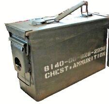 US Military Surplus M19A1 30 Cal Steel Shotgun Ammo Can Chest Geocache Case