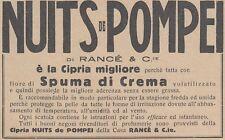 V0544 Cipria NUITS de POMPEI di Rancé - Pubblicità d'epoca - 1931 advertising