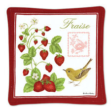 Alice's Cottage Cotton Scented Spiced Mug Mat Coaster Strawberries Fraise New