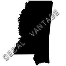 Mississippi Vinyl Sticker Decal State MS - Choose Size & Color