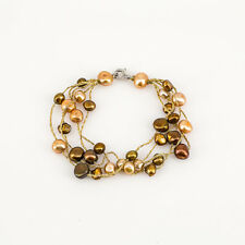 Chocolate Cultured Baroque Freshwater Pearl Bracelet