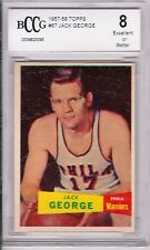 JACK GEORGE  SP 1957-58 TOPPS #67, BECKETT GRADED  8,  (BCCG)  SHARP CORNERS