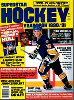 1990-91 Superstar Hockey Yearbook magazine, Brett Hull, St. Louis Blues ~ VG