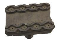 Antico Bunta Tampone Legno Stampa Tessuto Fiore Rajasthan India 6461