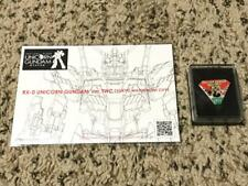 UNICORN GUNDAM VER. TWC 2017 STAMP RALLY PIN & POSTCARD! GUNDAM BASE RG PG HG MG