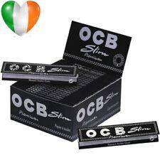 1 2 3 5 10 20 OCB PREMIUM BLACK KING SIZE SLIM SMOKING CIGARETTE ROLLING PAPERS