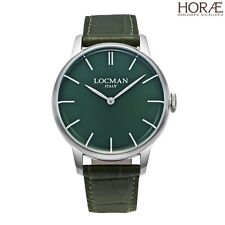 Orologio uomo Locman collezione 1960 0251V03-00GRNKPG pelle verde acciaio