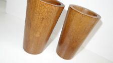 Vasos de 2 100% lleno de madera madera auténtica vidance