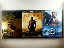 3 Great Action & Adventure Films! Gladiator - Master and Commander - Troy (Dvd)