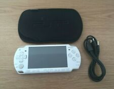 PSP-2003 1GB Memory Card White Handheld Console System w Cable & Pouch