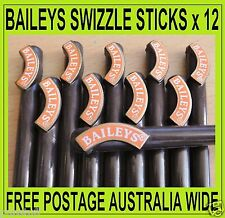 BAILEYS IRISH CREAM ~ 12 x SWIZZLE STICKS ~ FREE POSTAGE IN AUSTRALIA