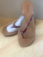 GUESS Authentic DAINTY New sandal / slippers / flip flops RED Women's Size 11M