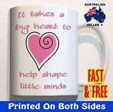 It takes a big heart gift for teacher pink COFFEE MUG CUP end of year present