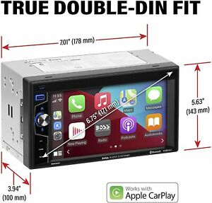 BE62CP BOSS Audio Systems Elite Series  Apple CarPlay Car Double Din NEW!!