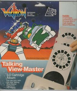 VOLTRON Electronic Talking View-Master 3-D Cartridge Album Sealed New