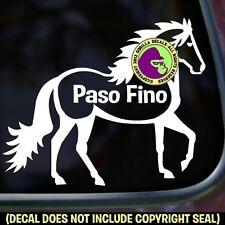 Paso Fino Vinyl Decal Sticker Horse Gaited Rider Equine Car Window Trailer Sign