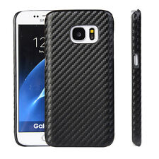 CoverKingz Samsung Galaxy S7 Edge Hülle Carbon Design Hard-case slim cover Schwa