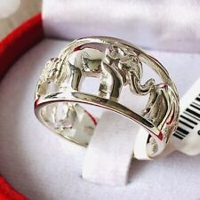Thai 925 Sterling Silver Elephant Ring Size Q
