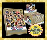 2020 AFL TEAMCOACH TEAM COACH FOOTY TRADING CARDS 1 SEALED BOX 1 ALBUM