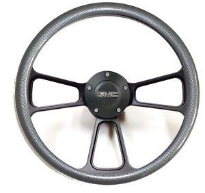 GMC Pick Up Trucks Black Billet & Carbon Fiber Steering Wheel & Horn