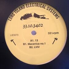 """33.10.3402 – Mecanica No.1 NEW L.I.E.S. 073 VINYL 12"""" TECHNO"""