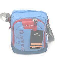 Aoking small messenger/travel nylon shoulder bag Blue/Red/Black/Grey