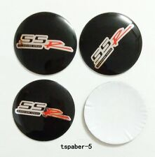 SSR Emblem Wheel Hub Caps Sticker Black 56mm wheel Center Covers