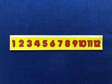 1984 Kenner Strawberry Shortcake Teaching Clock Number Strip Sticker Sheet