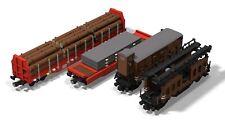 PDF-Anleitungen Güterwagen MOC Unikat Custom Eisenbahn 10277 aus LEGO©-Steinen