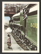 POSTCARD Advertising HAPPY HOLIDAY by Charles E. Brown - Holidays By Rail