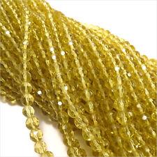 Pack Von 10 Reihen Ca. 500 Perlen Facettiert aus Glas 6mm Gelb Topas