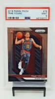2018 Prizm Atlanta Hawks RC Star TRAE YOUNG Rookie Basketball Card PSA 9 MINT !!