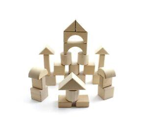 Building Block Wooden Toy for Kids Girls Children, 28 pcs Castle Montessori Toys