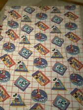 """Vintage Franco Mickey Mouse Flat Sheet """"Through the years"""""""