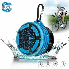 Waterproof Bluetooth Shower Speaker Portable Bass Stereo w/ FM Radio and Hook