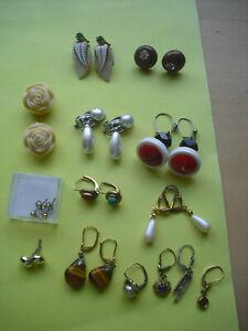 8 Paar Ohrringe - Ohrstecker -  Modeschmuck  + 4 einzelne