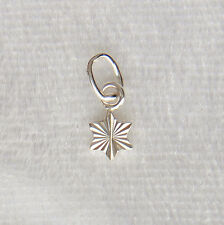 Sterling Silver Miniature Sparkly Star Charm Diamond Cut Small 5mm 925
