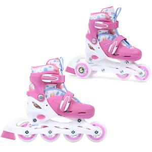 MADIVO Kinder Mädchen 2IN1 Inline Skates Rollschuhe VERSTELLBAR Inliner Triskate