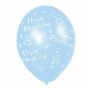 "6 x 11"" Christening Blue Latex Helium Balloons Baby Shower Party Decorations"