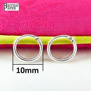925 Sterling Silver Hoop Earrings 8mm -20mm Small Tiny Hinged Sleeper Pair Girls