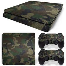 Sony PS4 Playstation 4 Slim Skin Aufkleber Schutzfolie Set - Camouflage 3 Motiv